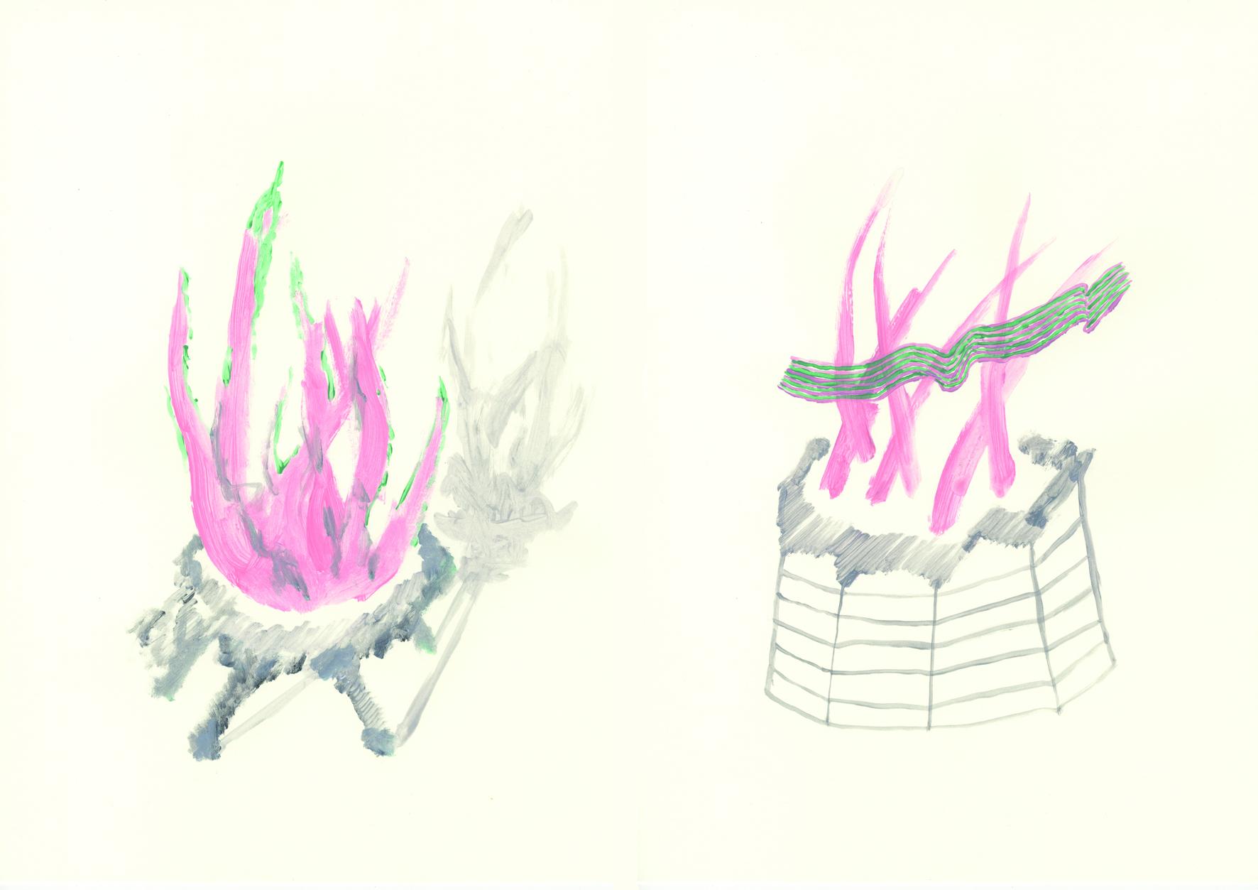 Antes del fuego fatuo. Acrílico sobre papel. (Díptico) 42x60cm_rectificada[480]