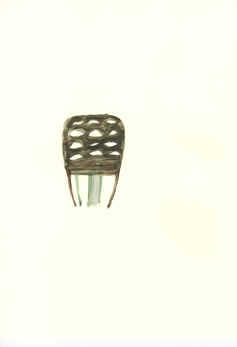 Peineta arácnida. Acrílico sobre papel. 42x29,7cm