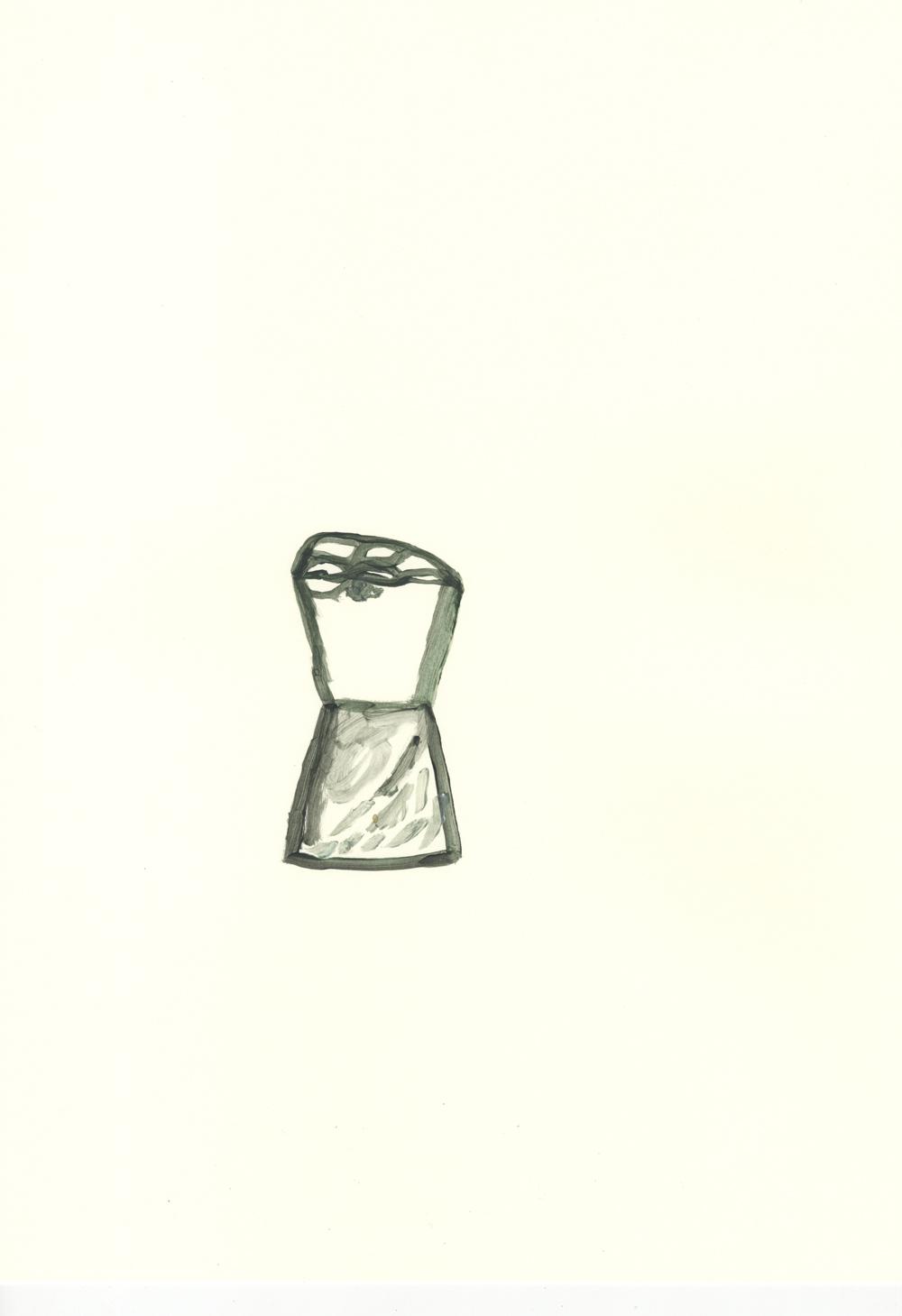 Reloj de sal. Acrílico sobre papel. 42x29,7cm